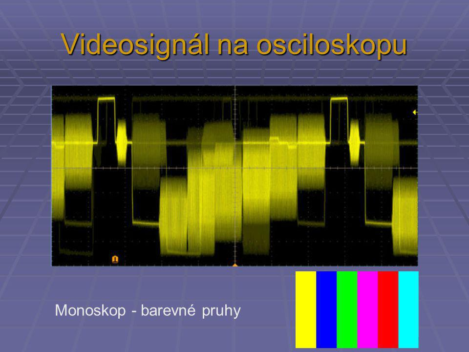 Videosignál na osciloskopu