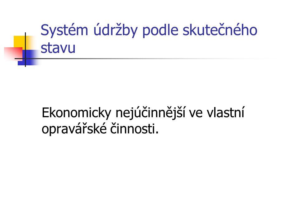 Systém údržby podle skutečného stavu