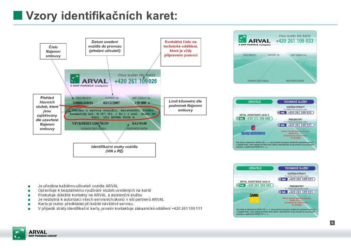 Vzory identifikačních karet: