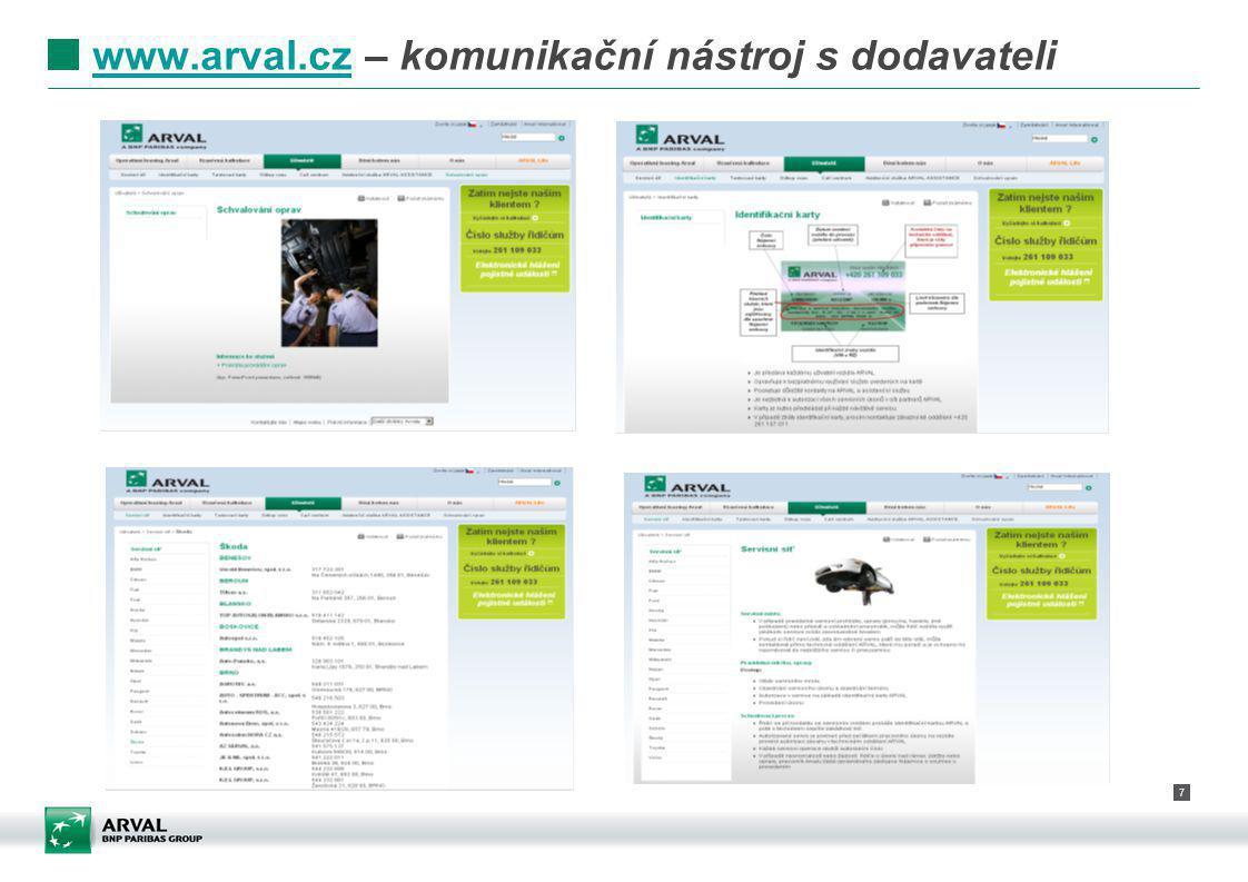 www.arval.cz – komunikační nástroj s dodavateli