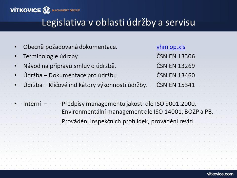 Legislativa v oblasti údržby a servisu