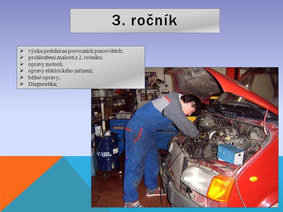 3. ročník výuka probíhá na provozních pracovištích;