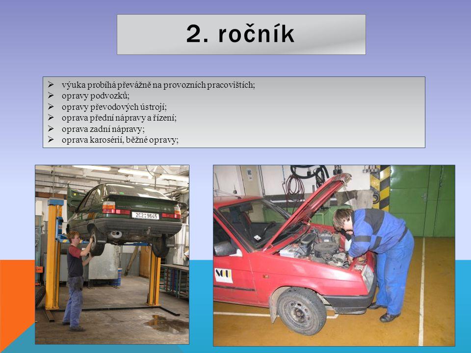 2. ročník výuka probíhá převážně na provozních pracovištích;