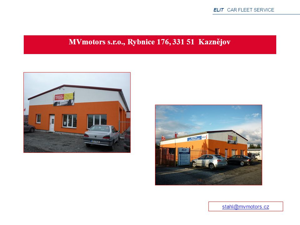 MVmotors s.r.o., Rybnice 176, 331 51 Kaznějov
