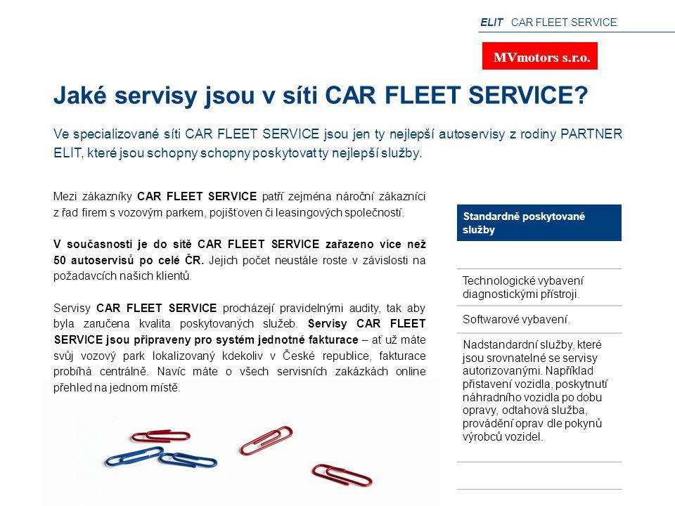 Jaké servisy jsou v síti CAR FLEET SERVICE