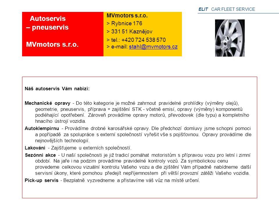 Autoservis – pneuservis MVmotors s.r.o. MVmotors s.r.o.