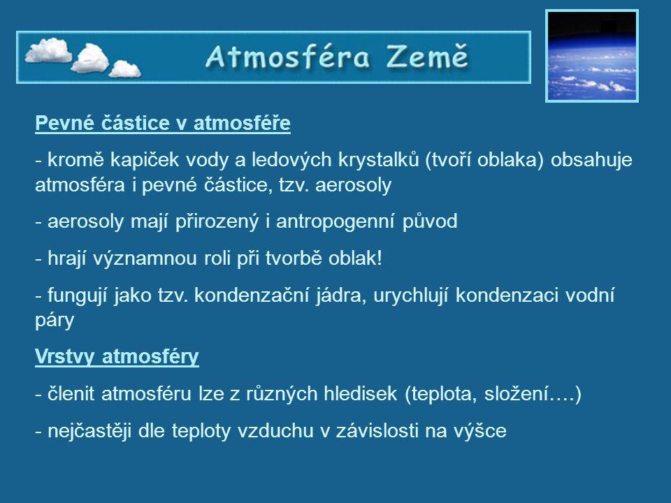 Atmosféra Země, vrstvy atmosféry