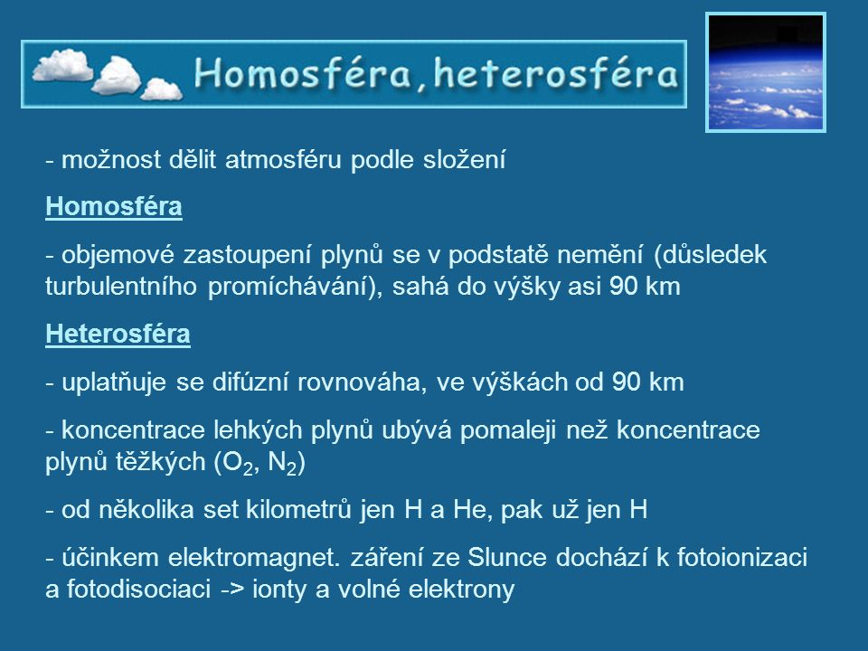 Homosféra a heterosféra