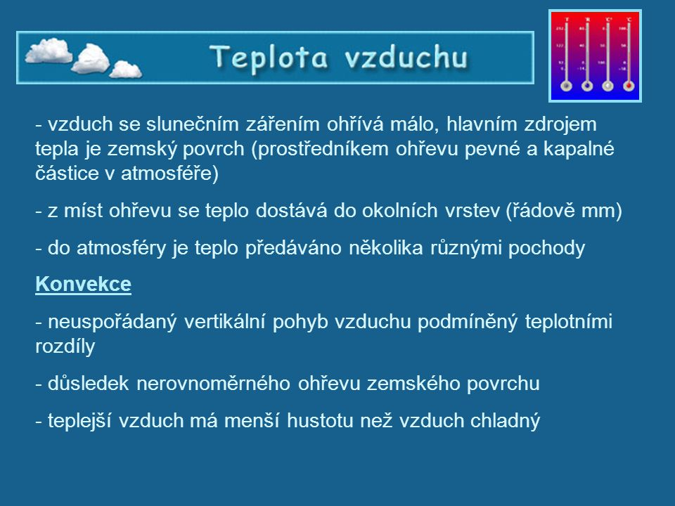 Teplota vzduchu - konvekce