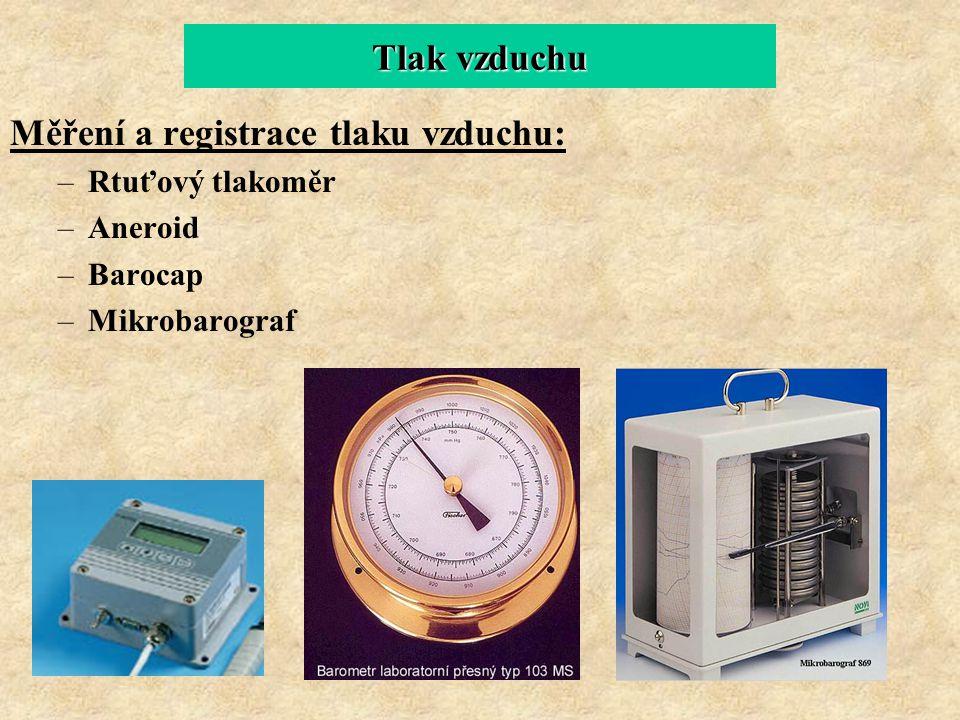 Měření a registrace tlaku vzduchu: