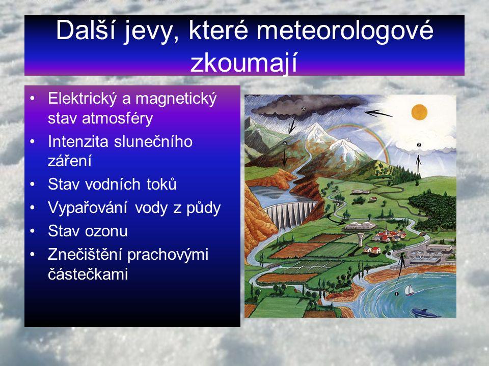Další jevy, které meteorologové zkoumají