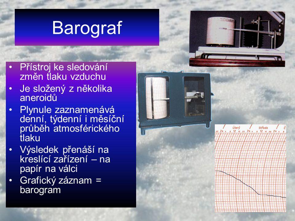 Barograf Přístroj ke sledování změn tlaku vzduchu