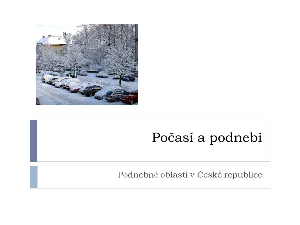 Podnebné oblasti v České republice
