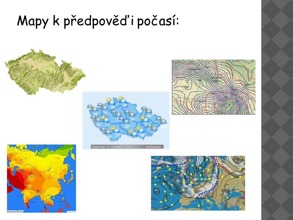 Mapy k předpověďi počasí: