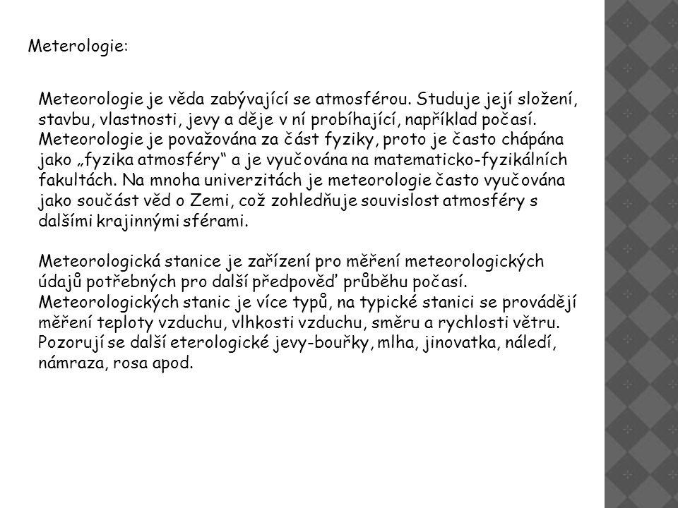 Meterologie:
