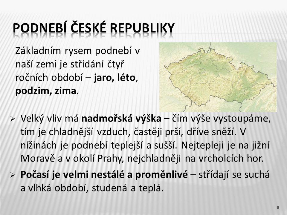 Podnebí české republiky