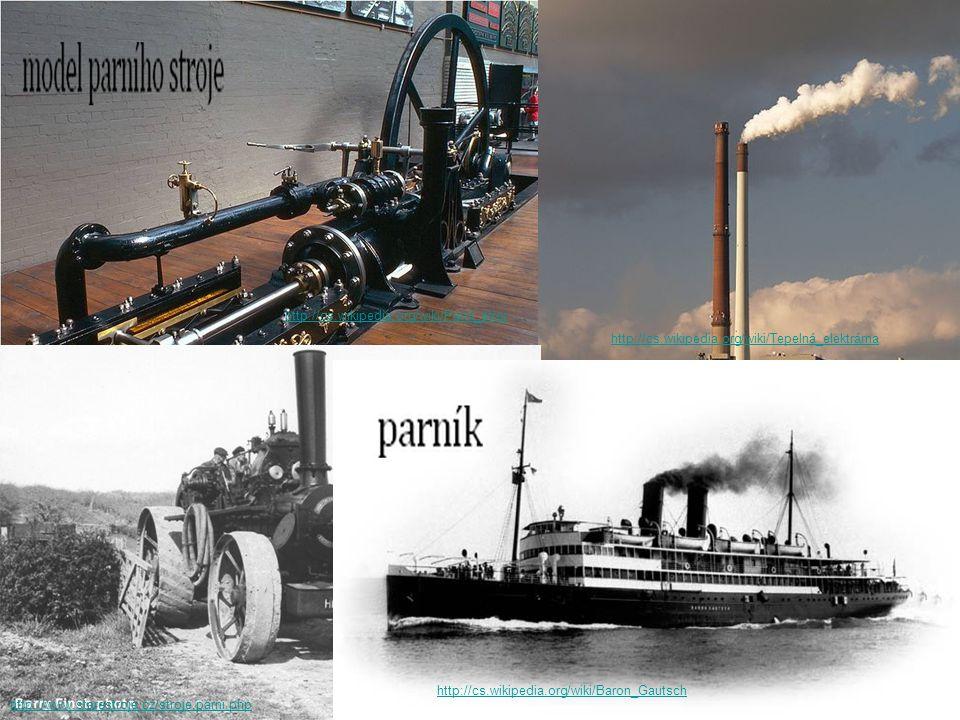 http://cs.wikipedia.org/wiki/Parní_stroj http://cs.wikipedia.org/wiki/Tepelná_elektrárna. http://www.starestroje.cz/stroje.parni.php.