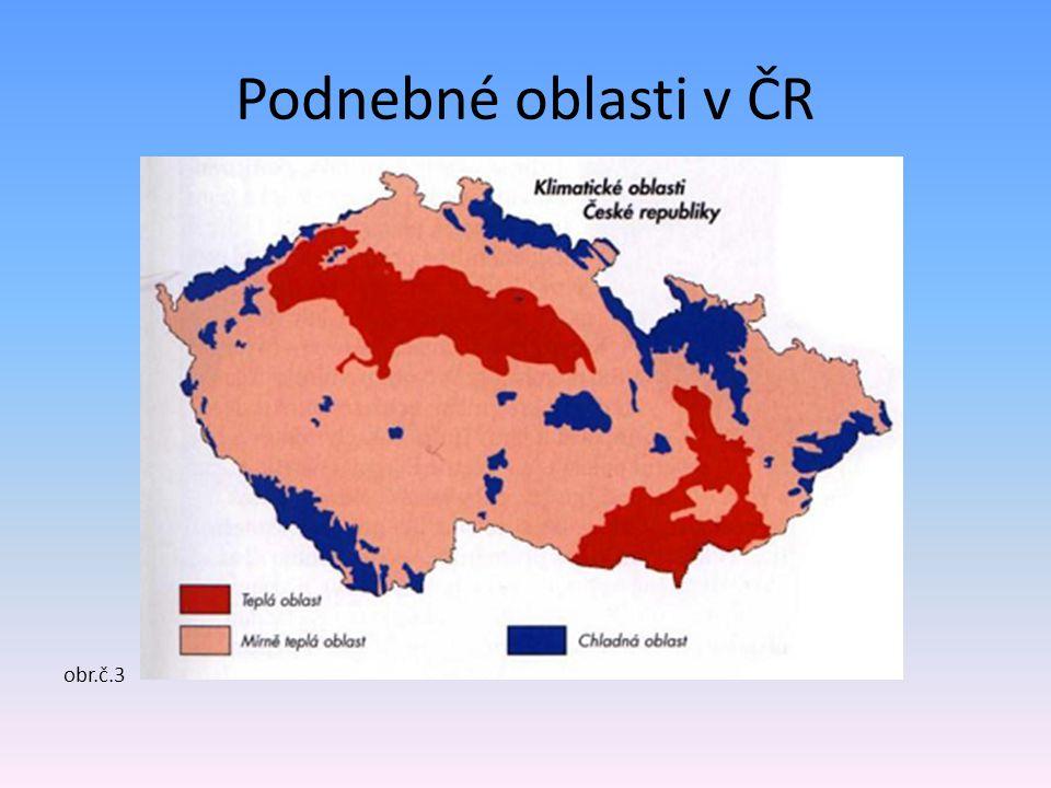 Podnebné oblasti v ČR obr.č.3