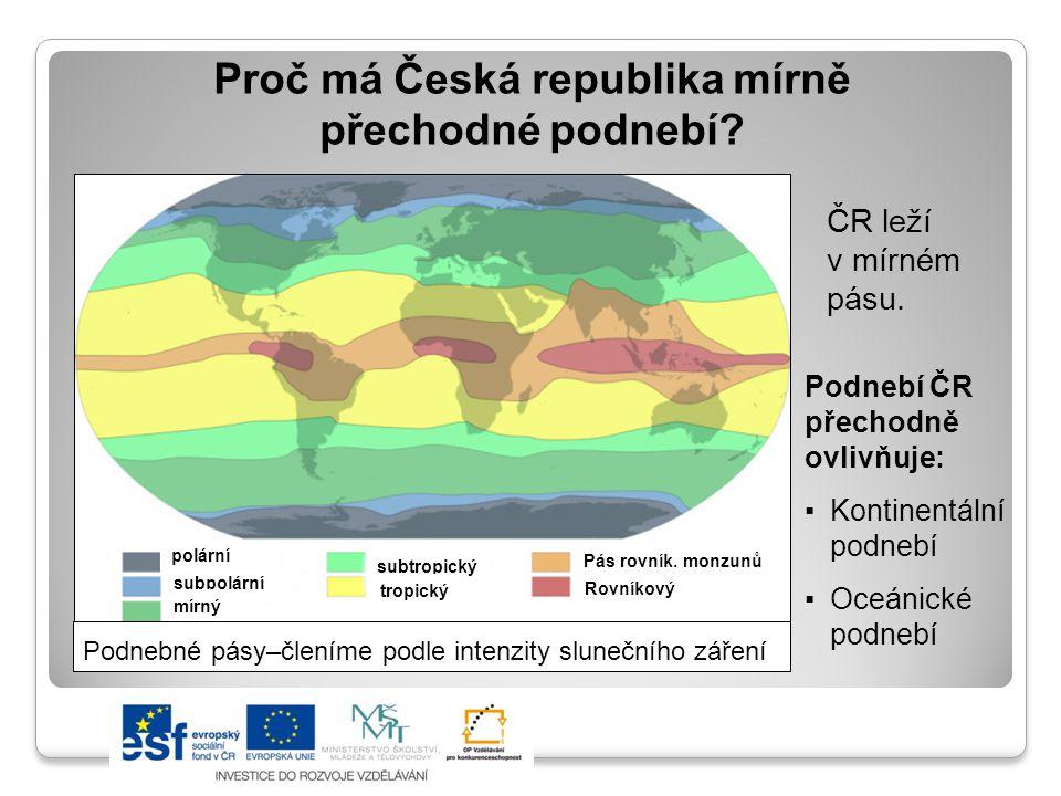 Proč má Česká republika mírně přechodné podnebí