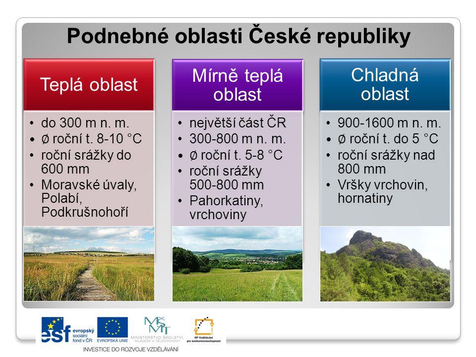 Podnebné oblasti České republiky
