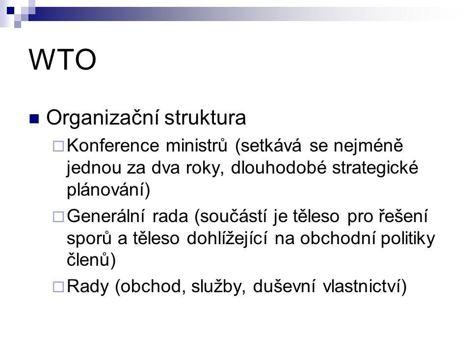 WTO Organizační struktura
