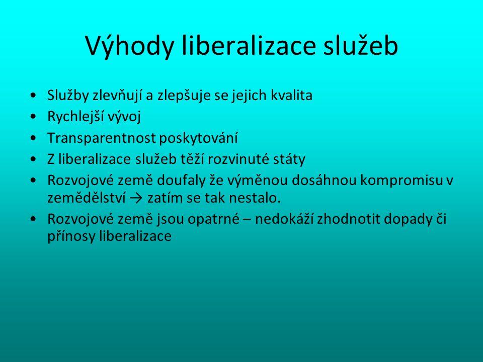 Výhody liberalizace služeb