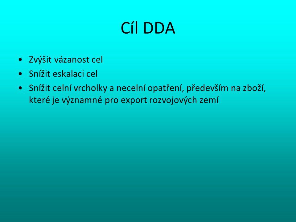 Cíl DDA Zvýšit vázanost cel Snížit eskalaci cel