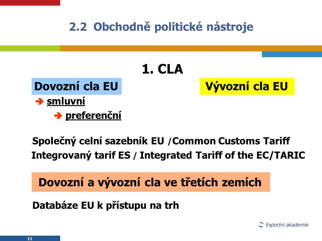 2.2 Obchodně politické nástroje
