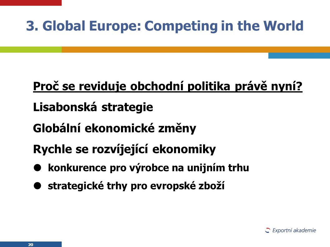 3. Global Europe: Competing in the World