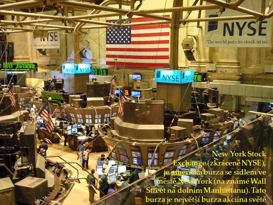 New York Stock Exchange (zkráceně NYSE), je americká burza se sídlem ve městě New York (na známé Wall Street na dolním Manhattanu).