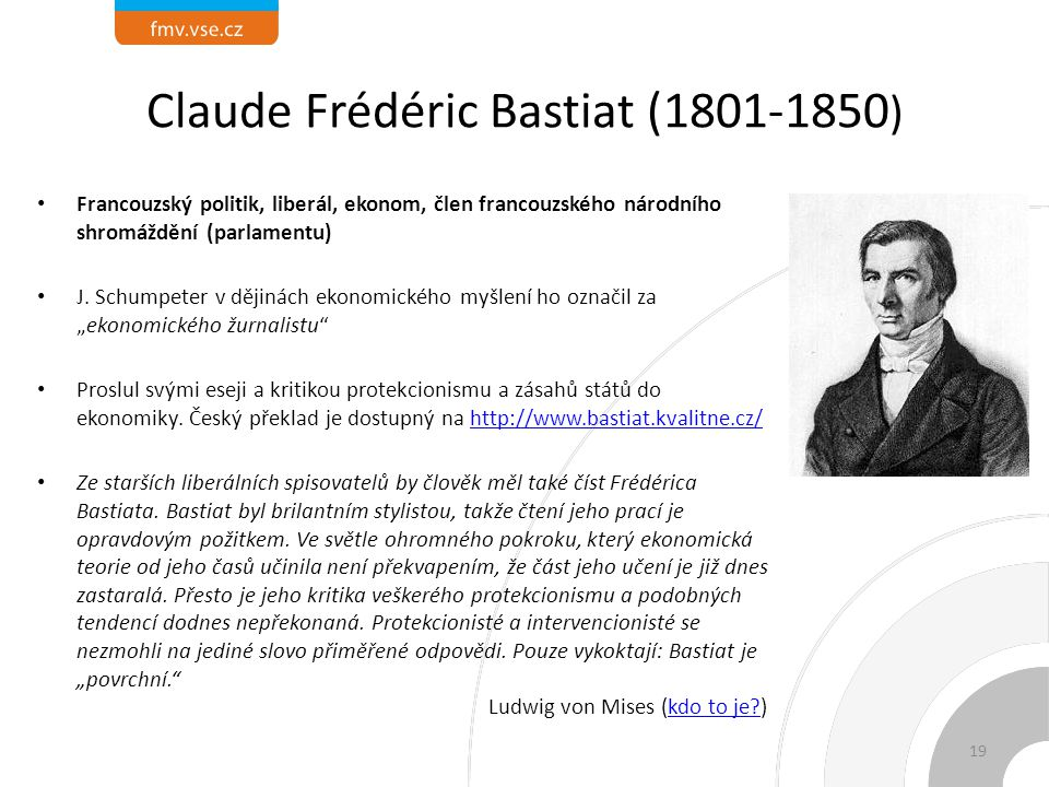Claude Frédéric Bastiat (1801-1850)