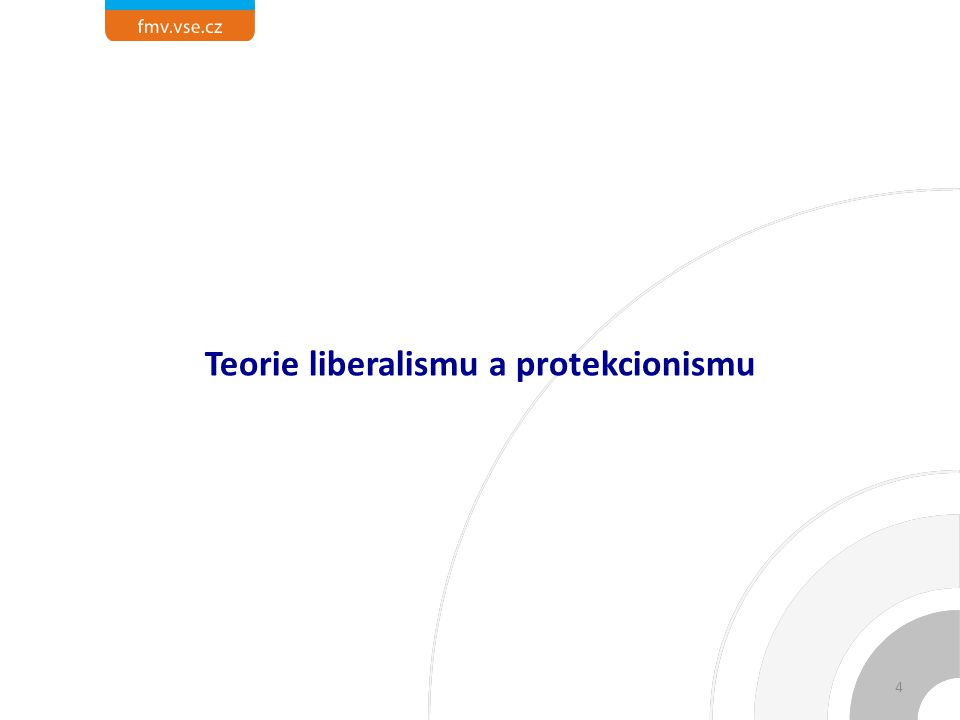 Teorie liberalismu a protekcionismu