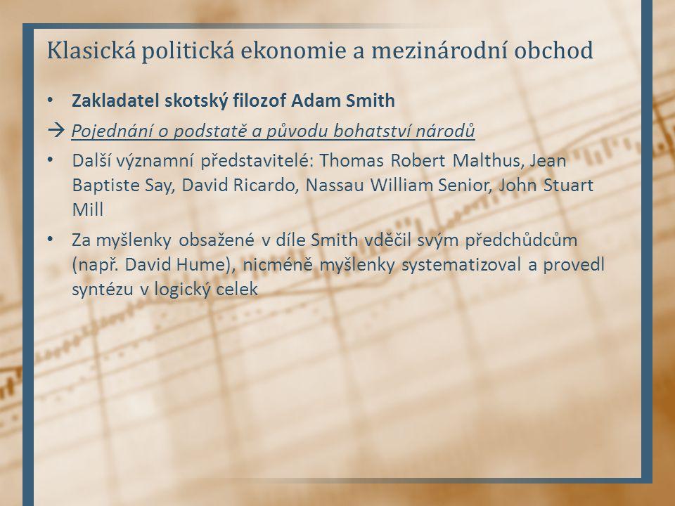 Klasická politická ekonomie a mezinárodní obchod