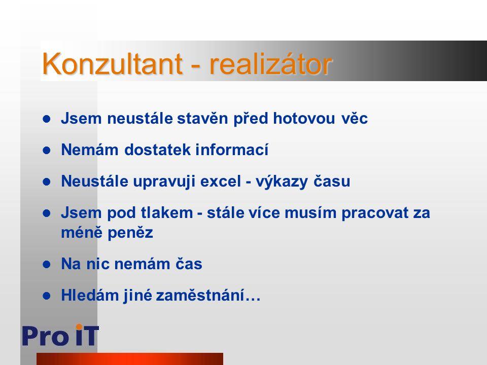 Konzultant - realizátor