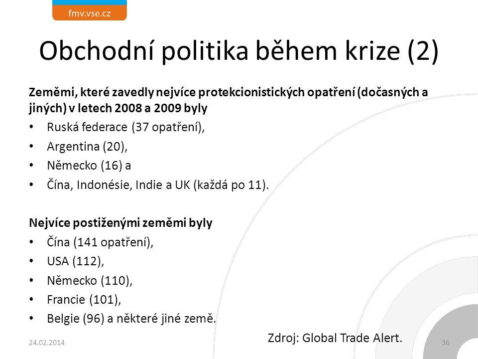 Obchodní politika během krize (1)