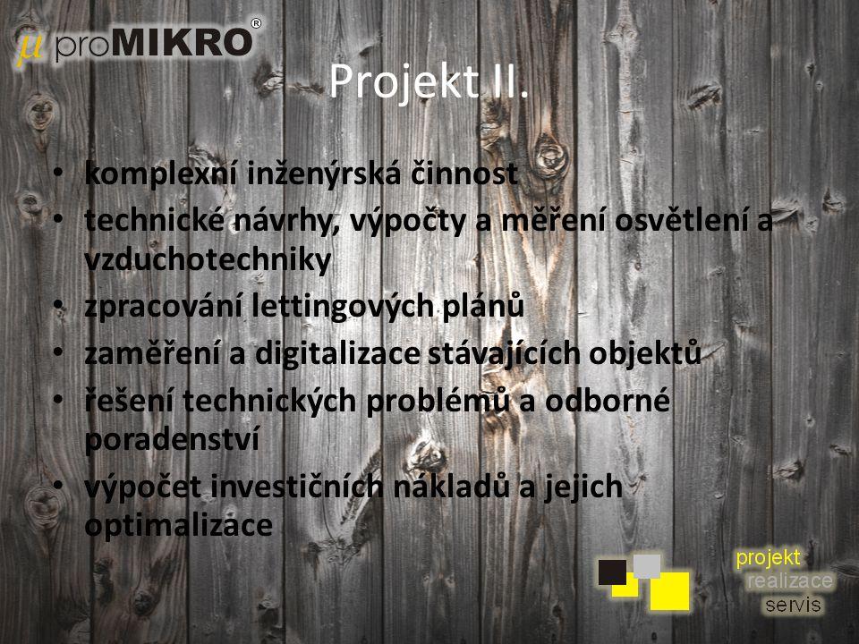 Projekt II. komplexní inženýrská činnost