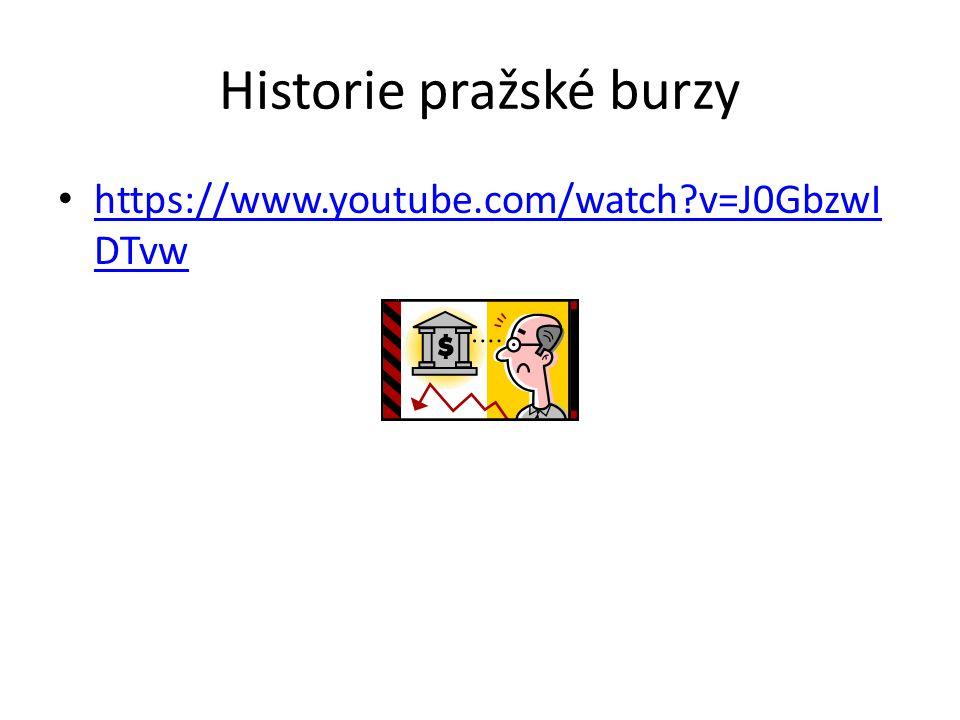 Historie pražské burzy