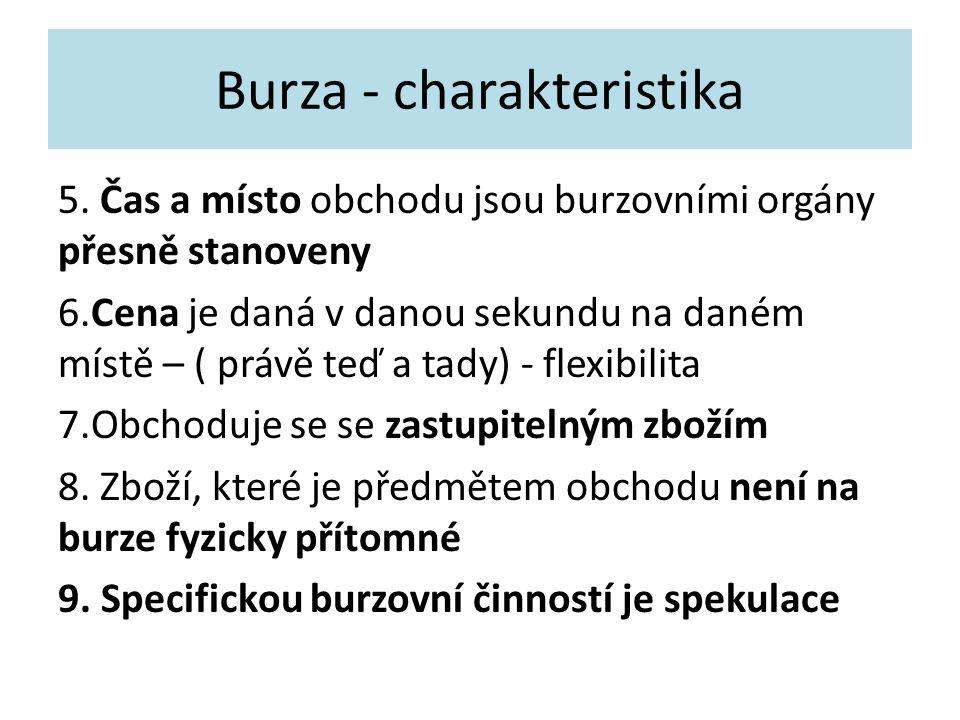 Burza - charakteristika