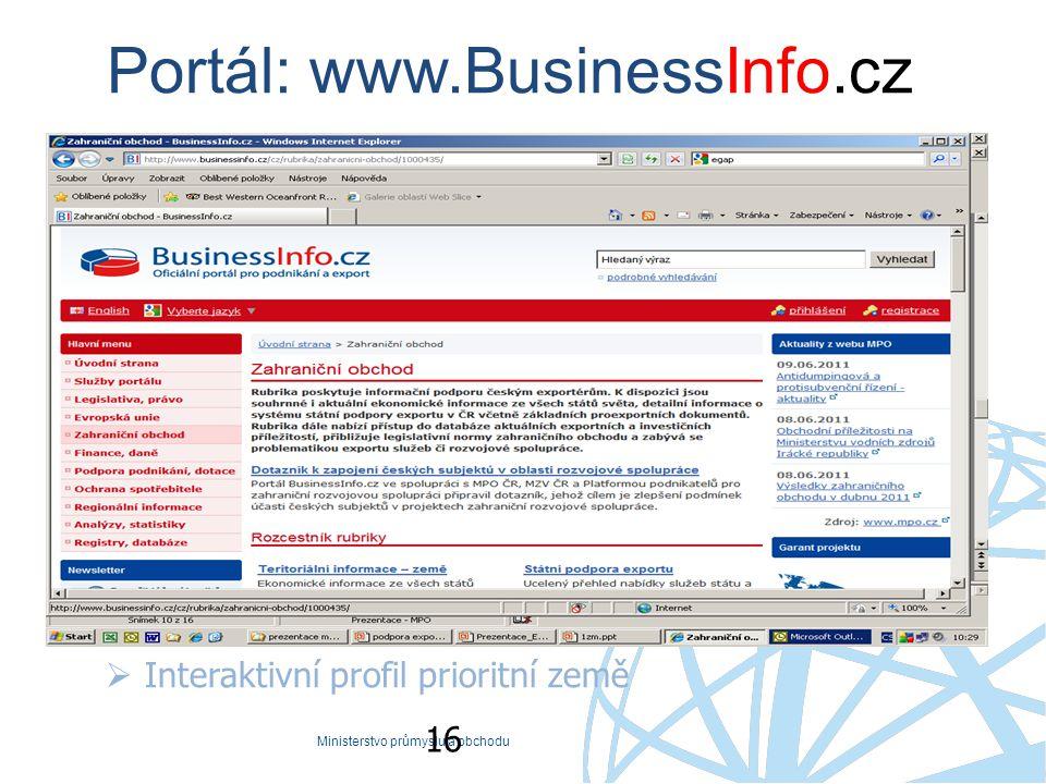 Portál: www.BusinessInfo.cz