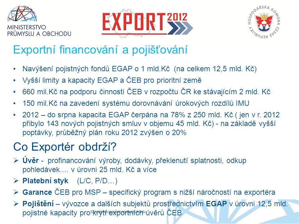 Exportní financování a pojišťování