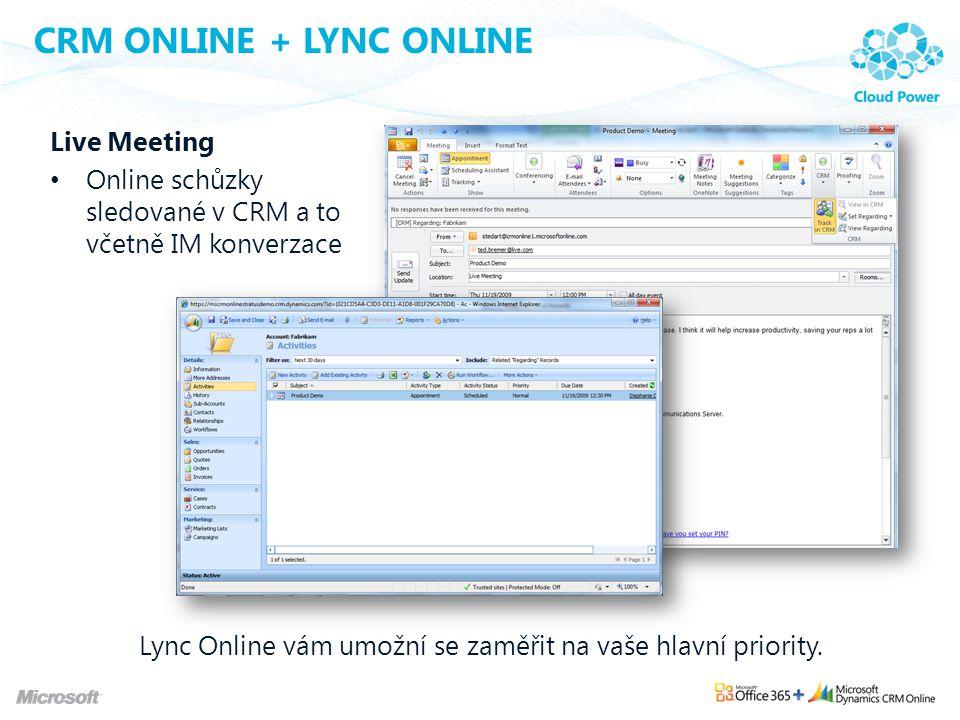 CRM Online + Lync Online