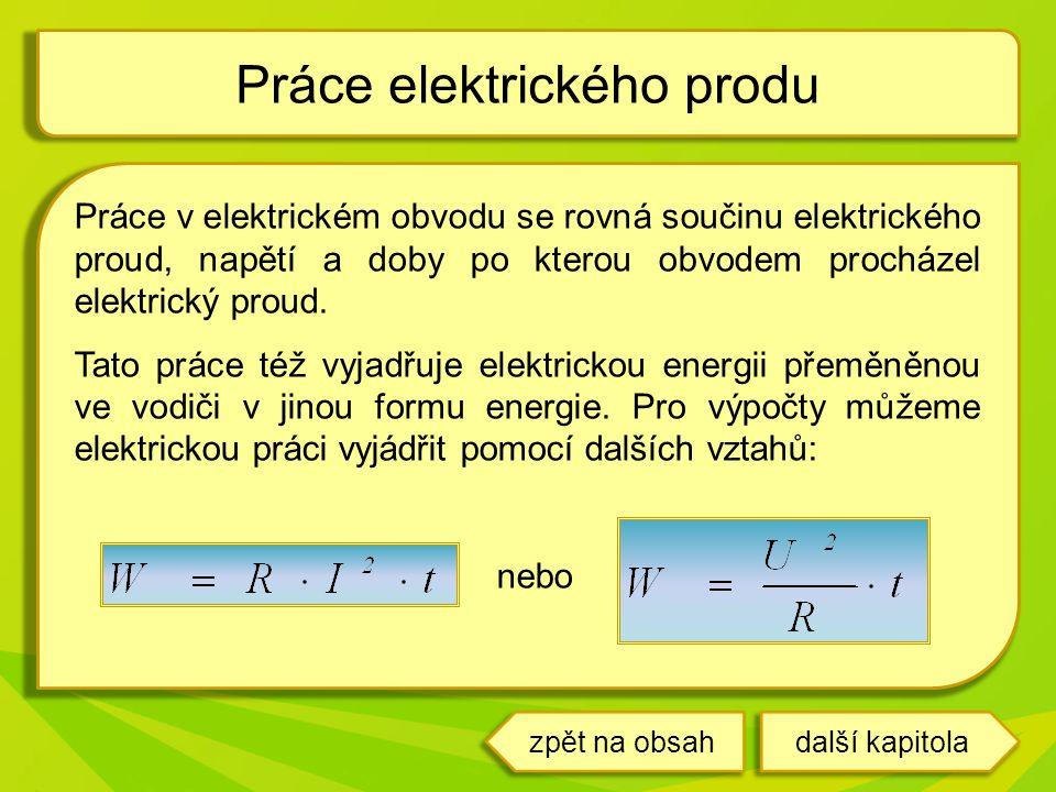 Práce elektrického produ