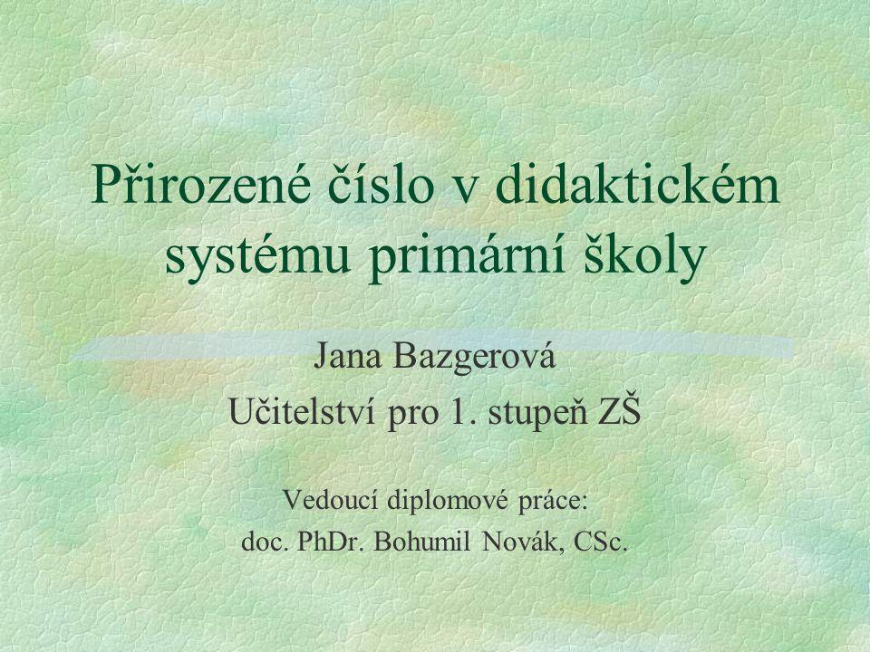 Přirozené číslo v didaktickém systému primární školy