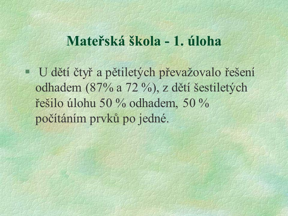 Mateřská škola - 1. úloha
