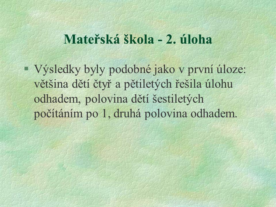 Mateřská škola - 2. úloha