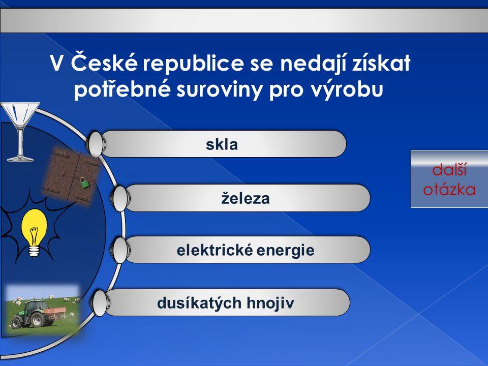 V České republice se nedají získat potřebné suroviny pro výrobu