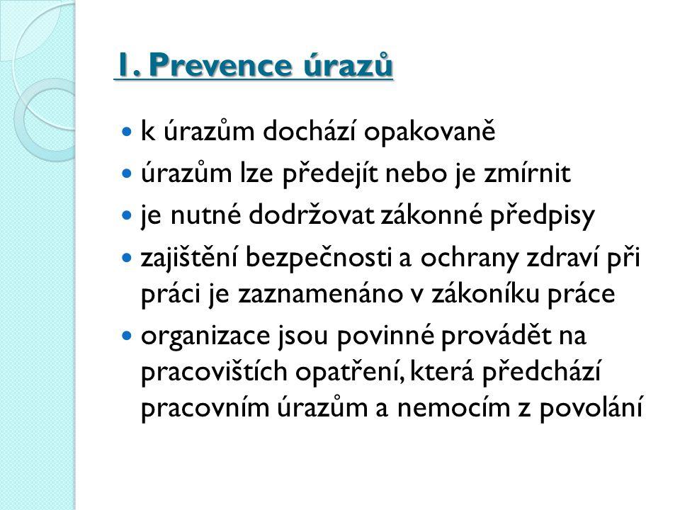 1. Prevence úrazů k úrazům dochází opakovaně