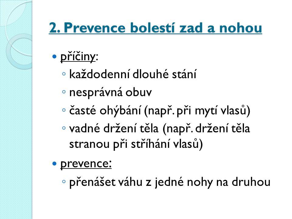 2. Prevence bolestí zad a nohou