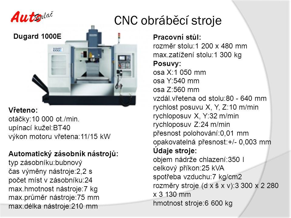 CNC obráběcí stroje Dugard 1000E