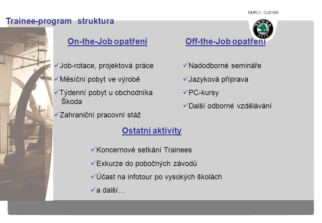 Trainee-program struktura
